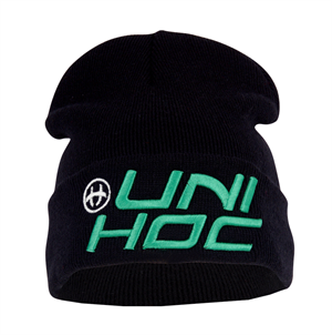 Hue - Unihoc Beanie United- vinter hue i sort (one size)